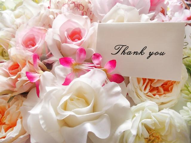 Thank youのメッセージカード画像